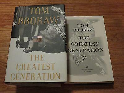Nbc News Journalist Tom Brokaw Signed The Greatest Generation 1998 Book Coa