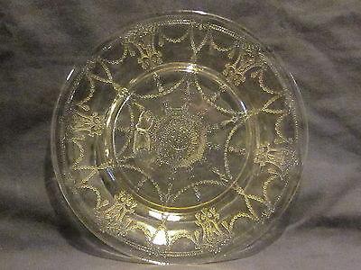 Hocking Glass Cameo Yellow Dinner Plates (4)