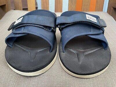 Suicoke Padri Navy blue Nylon Rubber Adjustable Slippers Slides Size 13