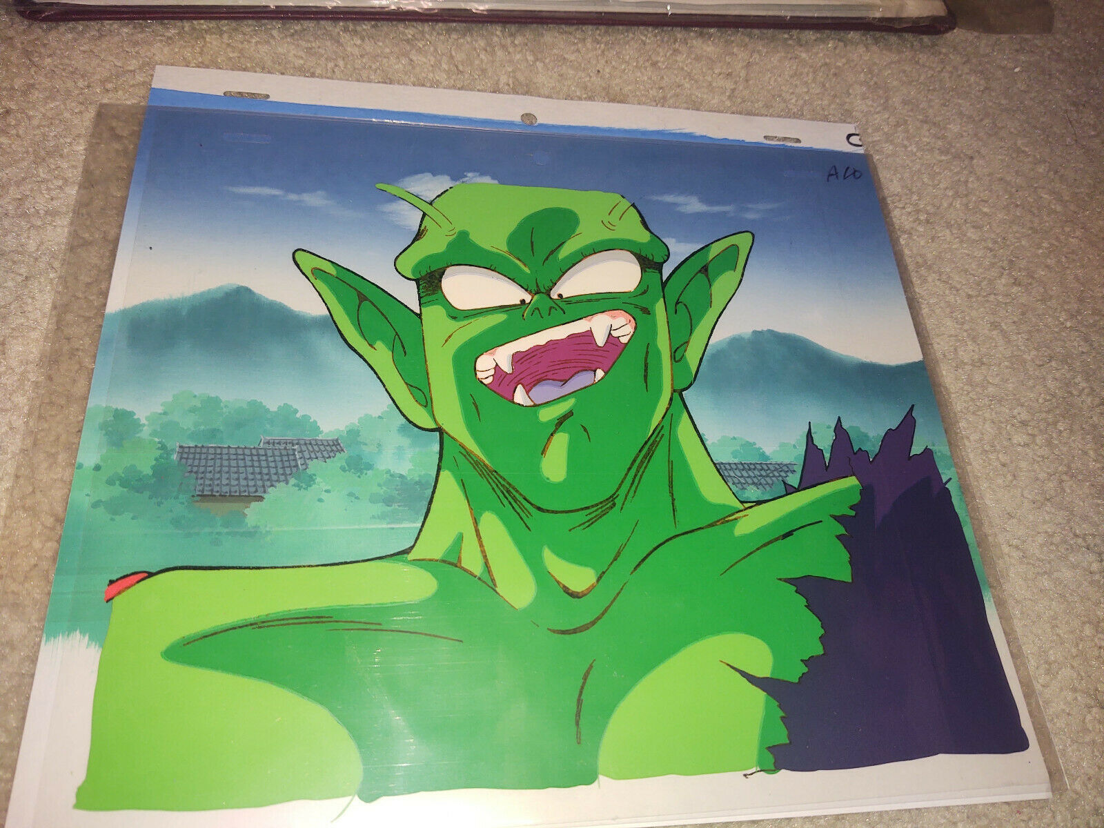 Dragon Ball Dragonball Z Piccolo Laughing Smiling Official Animation Cel - $199.99
