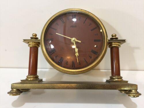 Vintage Atlanta Exclusiv Brass Desk Clock, Made in West Germany