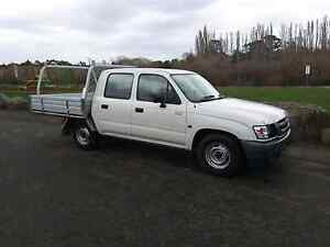 Toyota hilux duel cab 2003 2wd flat tray Hadspen Meander Valley Preview