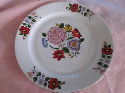VINTAGE KALOCSA HUNGARY HAND PAINTED FLORAL FLOWERS PORCELAIN PLATE for sale  Boca Raton
