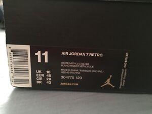 Jordan 7 Retro White Pure Money Size 11 DEADSTOCK