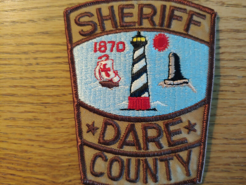 """Dare County Sheriff NC  Police Patch """"Lighthouse"""""""