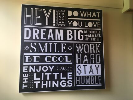 Word art style wall hanging