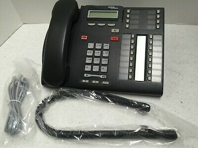 Used Nortel Norstar T7316e Phone Nt8b27jaaa Charcoal Black