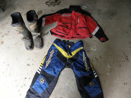motocross gear...pants, jacket and boots