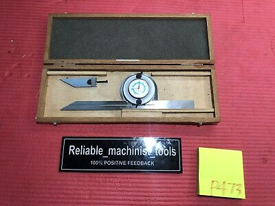 Excellent Swiss Made Tesa Brown Sharpe Dial Protractor Machinist Toolsp473