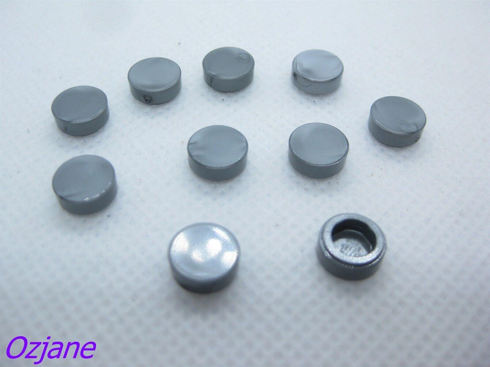 Round 1x1 Blue Lego 98138-10x Plaque Tile 35380 35381 NEUF Glitter Tr L