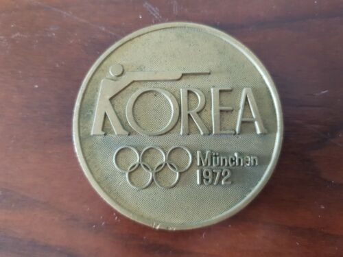 RARE 1972 MUNCHEN Olympic Games Korea Shooting Federation Medal Medallion