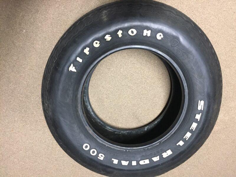 VINTAGE FIRESTONE STEEL RADIAL 500 TIRE ~ HAS TREAD SEPARATION