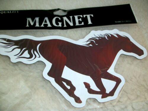 Horse Magnet Vinyl Galloping Horse Lover Gift Car Trailer Truck Fridge Locker