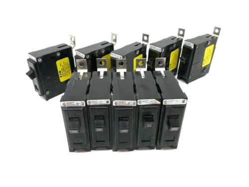 Lot of 10 Eaton QBHW1020 Circuit Breakers