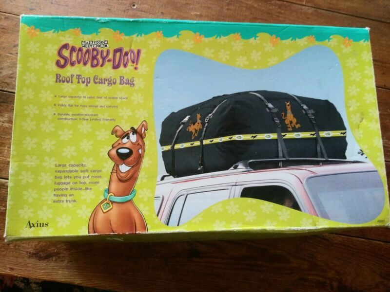 New Scooby Doo roof top cargo bag new open box travel storage container
