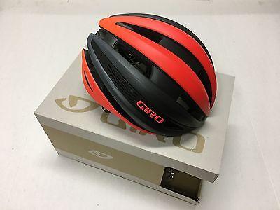 2018 Giro Synthe Mips Helmet Matte Vermillion   Charcoal Medium   Nib