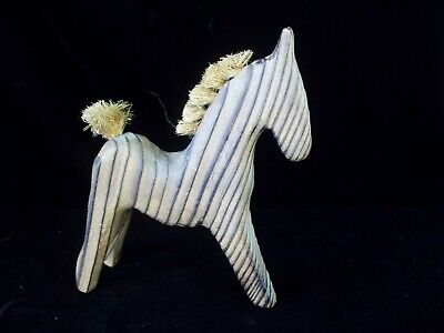 Vtg Nils Strandin Cryptomeria Horse Mid Century Figure Sweden Wood Hemp 5 inch