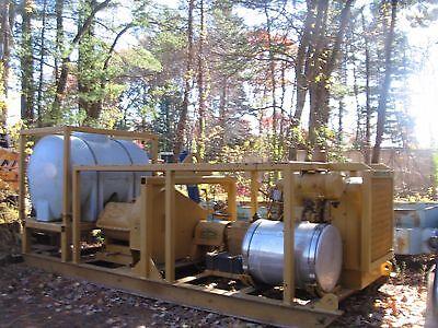 Skid Mount Gaso Mdl. 3400 Triplex Pump Detroit 3-71 Diesel