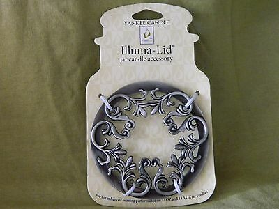 Yankee Candle Illuma Lid - FLAT SCROLL - Fits 22 oz & 14.5 oz Jars NEW