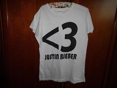 Justin Bieber, Shirt, weiß , Gr. M,