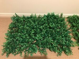 Artificial garden wall plant feature