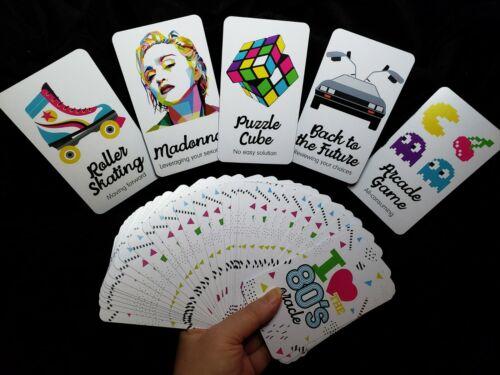 Rare 80s Oracle Cards Deck Set w/ Black Velvet Bag + Amazonite Tarot Gift Set