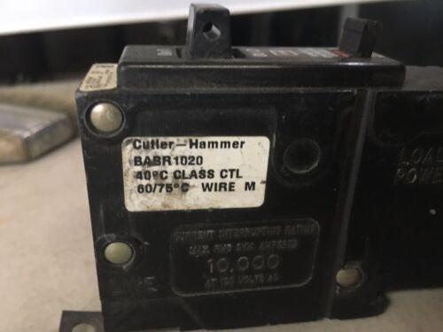 BABR1020 Cutler Hammer Remote Control Circuit Breaker