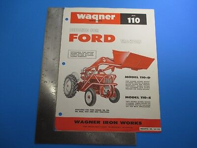 Wagner Model Ph65 Quick-detach 240 340 And 460 Tractors 180 Degree Swing M4735