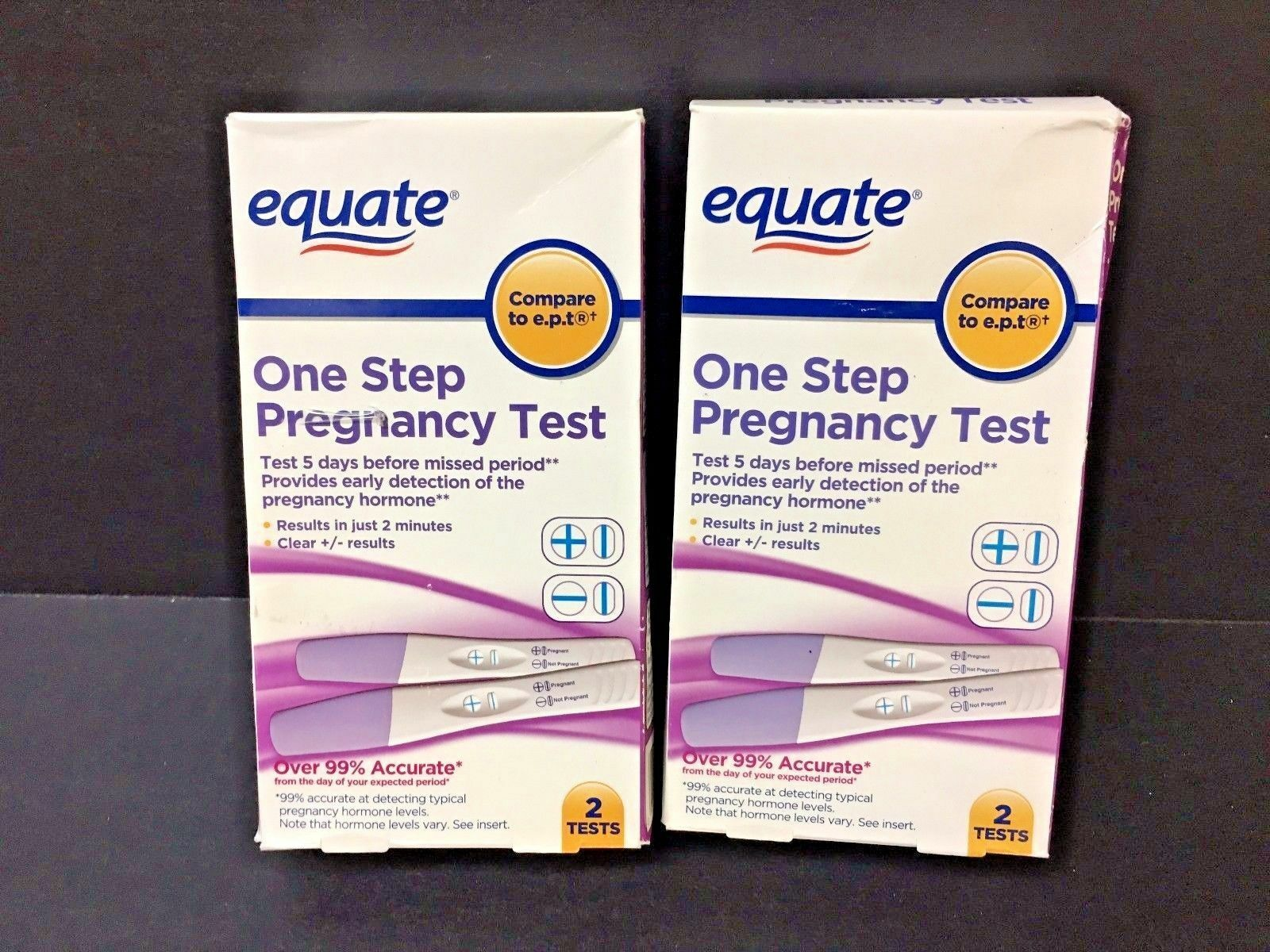 Equate One Step Pregnancy Test 2 Count Ebay