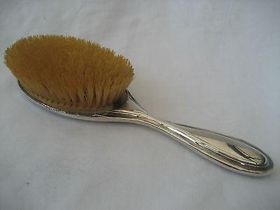 ELEGANT SOLID SILVER BACKED HAIR BRUSH - London,1922