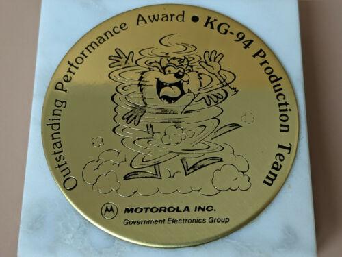 Vintage Taz Tasmanian Devil Motorola Outstanding Performance Award Etched Brass