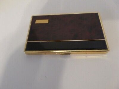 Vintage 1970s More Cigarette Case Brown Gold Tone Ex Condition
