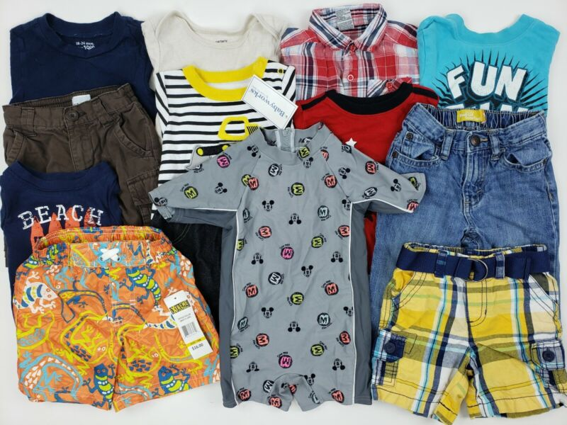 18-24 Months Boys Clothes Lot Carters Place Disney Etc Mickey Denim Jeans Tags