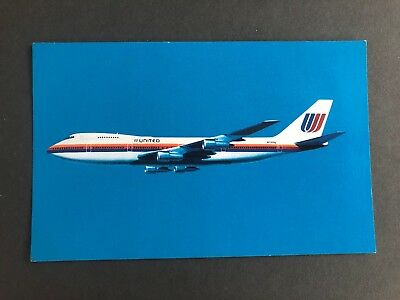 BOEING 747-100 FUSELAGE LENGTH UNITED AIRLINE JUMBO JET POSTCARD