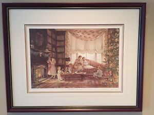"Trisha Romance  'very rare' 1988 ""Christmas Morning"" S/N print!"