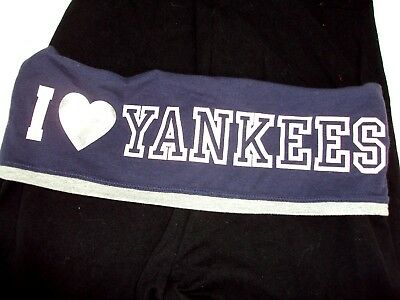 Victorias Secret PINK X Small Leggings New York Yankees NY Yoga Crop Capris Nwt