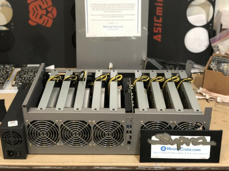 9x card FULL 1060 GPU Mining Rig RISERLESS - Nvidia ZOTAC P106-090 6GB cards USA