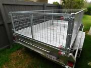 8x5 tilt trailer Galvanised with rego and 600mm cage Meridan Plains Caloundra Area Preview
