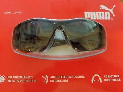 FACTORY SEALED PUMA SPORTS SUNGLASSES GLOSS BLACK FRAME GREY LENS (Puma Lens Frames)