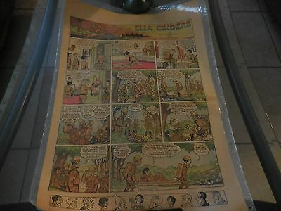 Antique Two-side Comic Strip ELLA CINDERS & GASOLINE ALLEY 1929