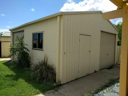 Storage space, 38m2 steel shed
