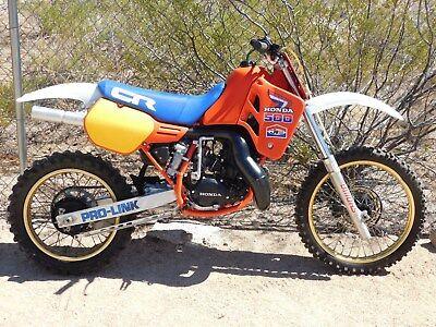 '85 Honda CR500R CR 500 R BILLET ROD Vintage MX MotoCross Beautiful RACE RESTO