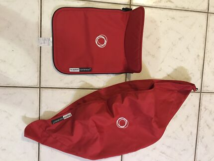 Bugaboo Red Fabrics and matching nappy/change bag