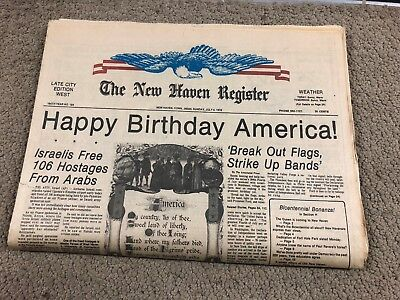 Bicentennial July 4Th Edition New Haven Register New Haven  Conn  Complete Look