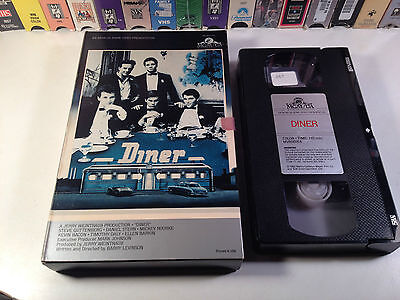 Diner Comedy Drama VHS 1982 OOP HTF Mickey Rourke Kevin Bacon MGM Book Box