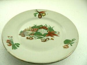 Rare ancienne assiette porcelaine de limoges chadelaud for Decoration a l assiette