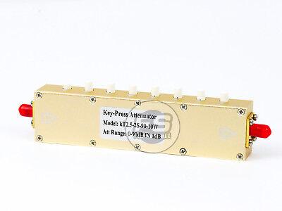 Sma Adjustable Step Attenuator Dc-2.5g Female To Female 10w 50ohm 90db Us Seller