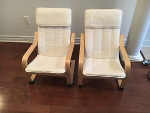 two poang children chairs