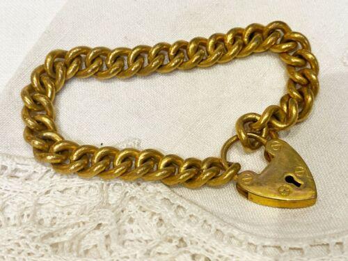 vintage rolled gold  padlock bracelet for chams