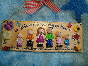 3d Personalised Family Home Welcome Plaque Sign 6 Character House Father's Day